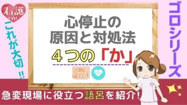 【ゴロシリーズ】心停止の原因検索「4つのか」の覚え方!6H6Tとセットで覚えよう!