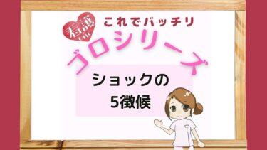 【ゴロシリーズ】ショックの5徴候の覚え方は「それきみこ」!